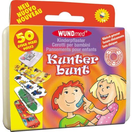 Pflaster Kinder WUNDmed® Kunter bunt Box 50tlg.