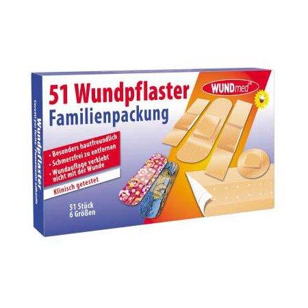 Pflaster Wund Familienpackung  51-teilig
