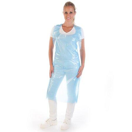 Schürze Latz Polyethylen 20 my blau