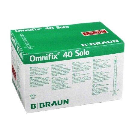 Spritze Injekt® 40 Solo, für U40-Insulin, ohne Kanüle, 1 ml