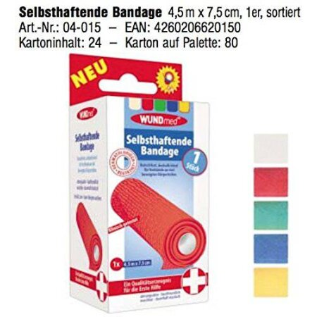Bandage selbsthaftend 4,5 m x 7,5 cm