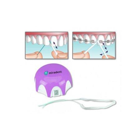 Faden Mirafloss Implant CHX fein rosa