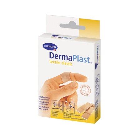Pflasterstrips DermaPlast textile elastic sortiert , 2 Größen