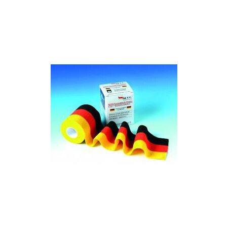 Binde Kurzzug ROGG kohäsiv Schwarz/Rot/Gold  8 cm x 5 m
