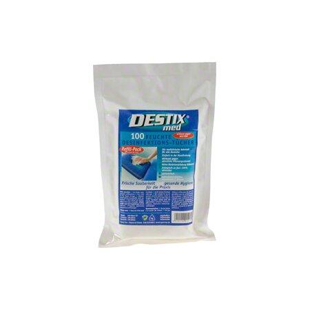 Desinfektionstücher DESTIX im Nachfüllpack, 13x20 cm, 100 Stück