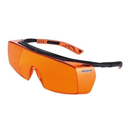Schutzbrille Monoart Cube - mit Lichtschutzfilter orange