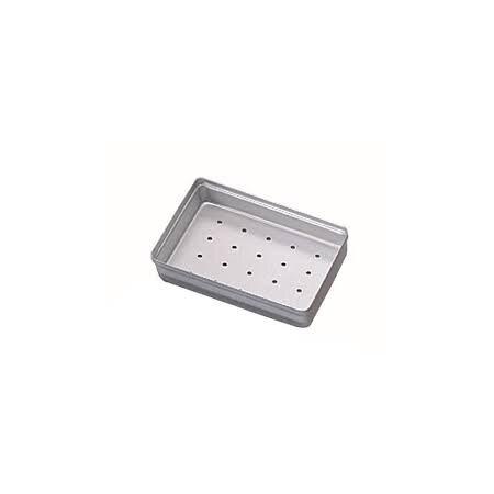 Minitray Aluminium Deckel gelocht, silber