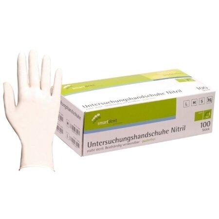 Handschuhe Nitril Soft puderfrei weiß