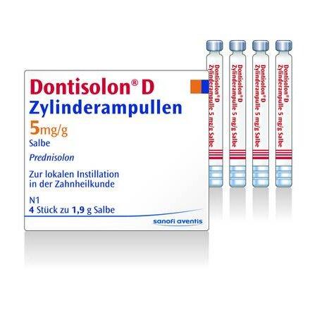 Zylinderampullen Dontisolon D 4 x 1,9 g PZN: 04913795