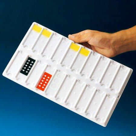Objektträger-Tablett Servoprax für 10 Objektträger