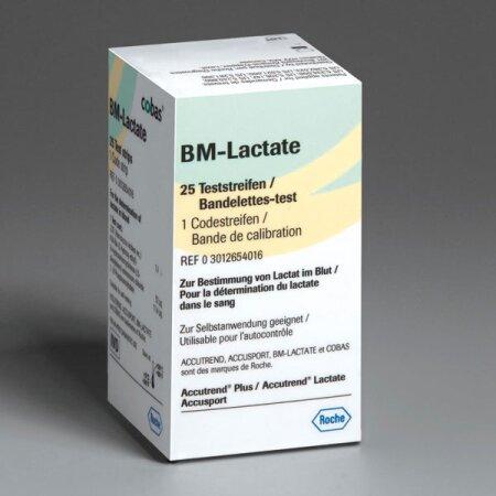 Teststreifen BM-Lactate, 25 Stück zur Messung der...