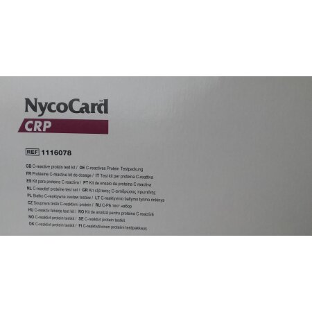Testkassetten NycoCard CRP