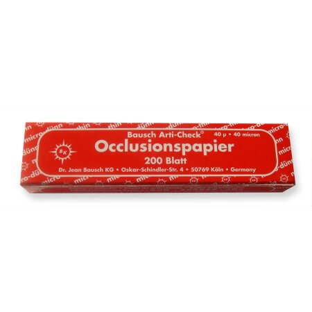 Papier Occlusion 40my Rolle