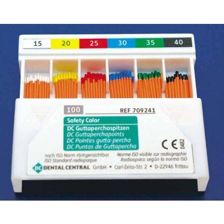 Spitzen Guttapercha color ISO 15-40