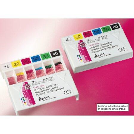 Spitzen Guttapercha color ISO 45-80