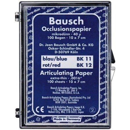 Papier Occlusion 40my 100 Stück blau und rot