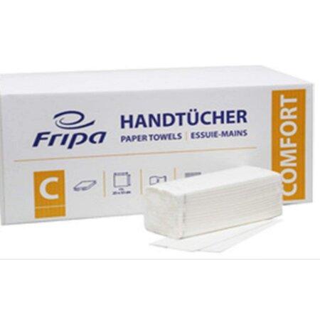 Papierhandtücher Fripa Comfort (hochweiss 25 x 23 cm) 2-lagig