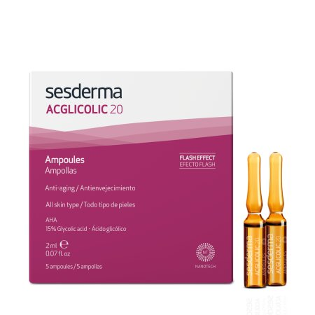 Sesderma Acglicolic 20 Facial Serum, 1er Pack (1 x 5...