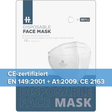Maske HG Disposable Face Mask FFP2 ab 89 Cent/Stück