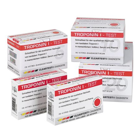 2st.Schnelltest CLEARTEST 3361218 , Troponin I (10-er Pack)