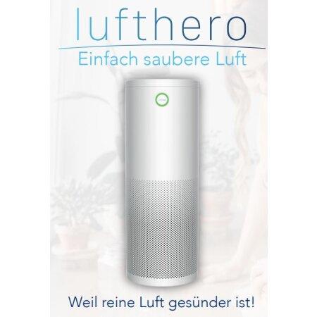 Luftreiniger LUFTHERO Aktivkohlefilter 600 m³/Stunde UVC -Filter