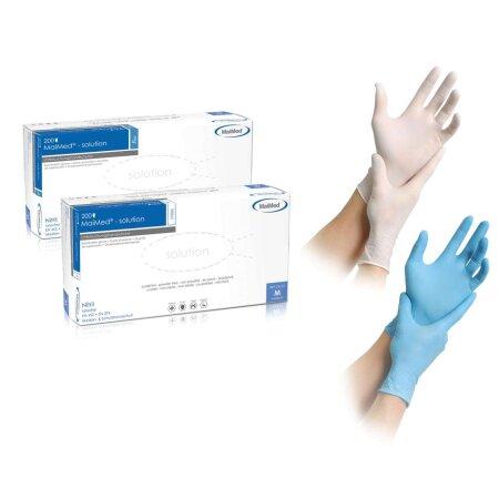 Handschuhe Solution white 200 Stück Nitril puderfrei...