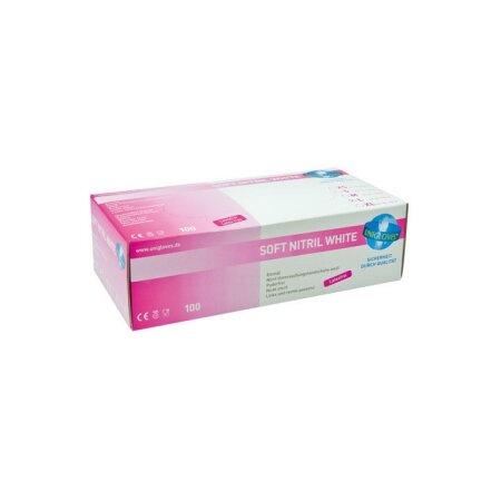 Handschuhe Unigloves Nitril S Soft White Premium puderfrei weiß Größe: S