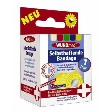 Bandage selbsthaftend Wundmed 4,5m x 5cm Farbe variiert,...