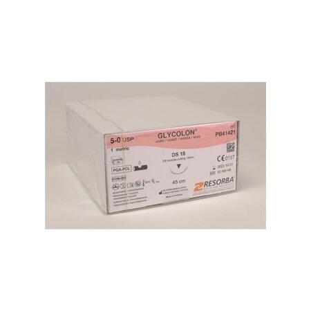 Nahtmaterial Glycolon violett 5/0 DS18