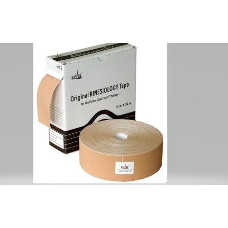 Original Nasara® Kinesiology Tape XXL, 5cm x 32m, beige