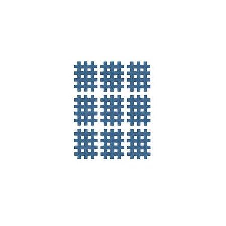 Gittertape Typ A Blau, 27 x 20 mm, 20 Blatt, 9 Stück