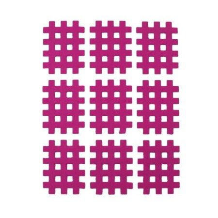 Gittertape Typ A Rot, 27 x 20mm, 20 Blatt, 9 Stück