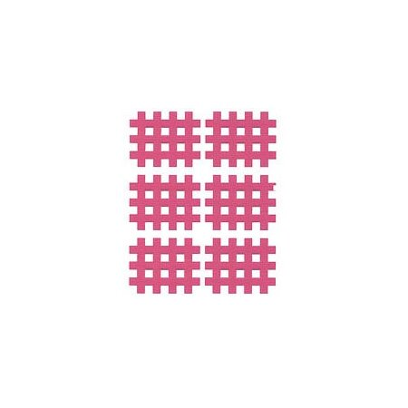 Gittertape Typ B Rot, 36 x 29mm, 20 Blatt, 6 Stück