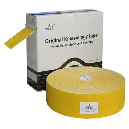 Original Nasara® Kinesiology Tape XXL, 5cm x 32m, gelb