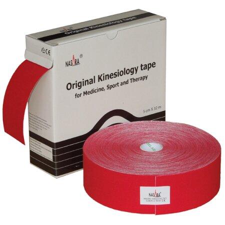 Tape Original Nasara® Kinesiology XXL, 5cm x 32m, rot