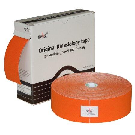 Original Nasara® Kinesiology Tape XXL, 5cm x 32m, orange
