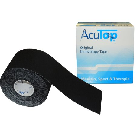 Tape AcuTop Kinesiologie Tape schwarz AcuTop Klebeband 5...