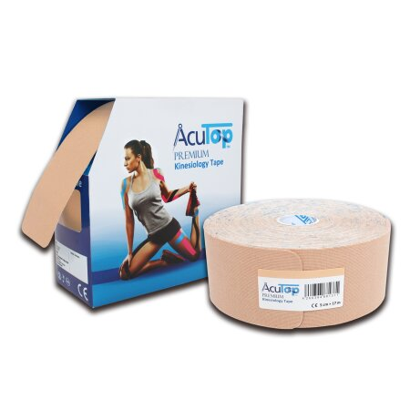 Tape AcuTop XL Premium Kinesiology beige, 5 cm x 17 m