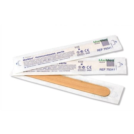 Holzmundspatel steril 15 cm x 1,8 cm MaiMed