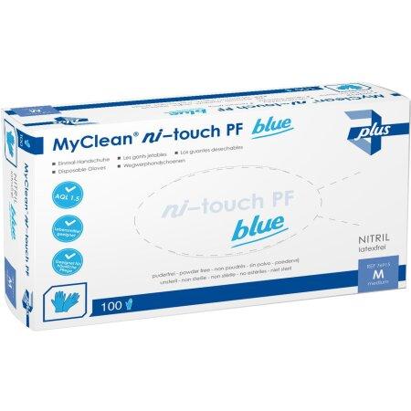 Handschuhe Nitril MyClean ni-touch Gr.XL blau 100 St. (50...