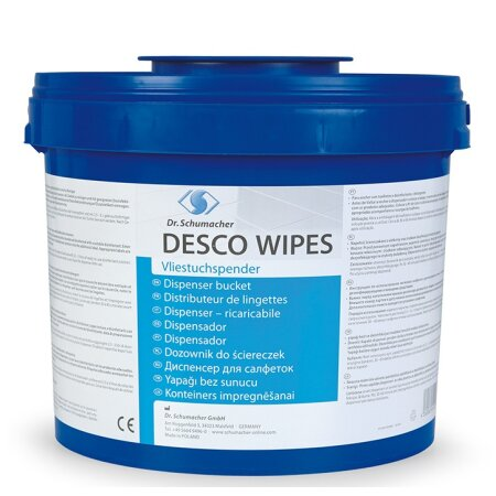 Vliestuchspender Desco Wipes blau (1 Spendereimer)...