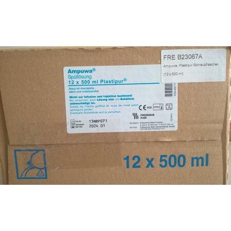 Lösung Ampuwa, Plastipur Schraubflaschen (12 x 500 ml)