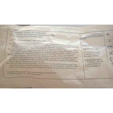 OZONOSAN Combi Set GEB/MAH m.Safety-Flaschenadapter Dr....