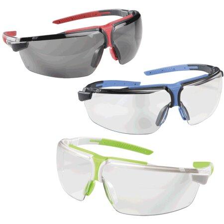 Schutzbrille iSpec Comfort Fit in blau/grau und blau/orange