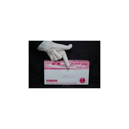 Handschuhe Vinyl Premium Stretch Plus transparent creme  S-XL